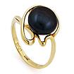 Золотое кольцо с черным жемчугом SL-2856-325 весом 3.2 г  стоимостью 10880 р.