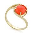 Золотое кольцо с натуральным кораллом SL-2125-249 весом 2.51 г  стоимостью 18825 р.